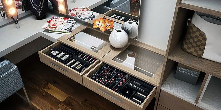 makeup room creative closets